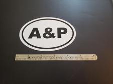 New ListingA & P Oval Sticker Aviation Pilot Aircraft Mechanic Inspection Authorization Ia