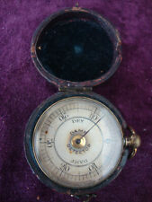 Antique humidity damp meter in leather case