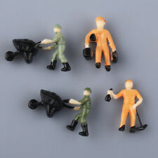 25pcs Model Train Worker People Figures Railway Scenery Layout 1/87 HO Scale