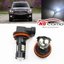 Canbus H11 3030 21SMD LED DRL Daytime Running Fog Lights Bulbs For Infiniti JX35