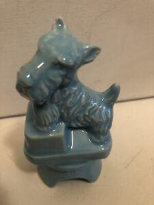 Boyd Glass Ceramic Scottie Puppy Dog Pie Bird Vent Light Blue