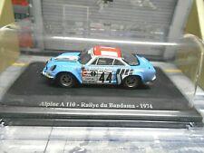 RENAULT Alpine A110 Rallye Bandama Ivoire 1974 #44 Pescarolo dirty Eligor 1:43