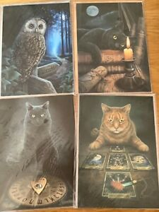 Lisa Parker Greetings Cards. Set of 4. Black Cat, Way of the Witch. BNIP.