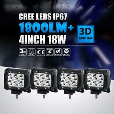 "4X 4""Inch 18W CREE LED Work Light Bar 4WD Offroad Spot For Jeep Wrangler Grand"