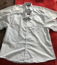 NEW Men's Pierre Cardin 'Easy Care' Short Sleeve Shirt – Duo 2 Pack 2XL Blue Mix