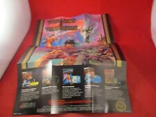Wizards & Warriors Nintendo NES Foldable Promo Poster Insert ONLY