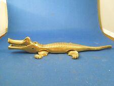 Vintage Crocodile Alligator Caiman Table Brass Nut & Shell Cracker