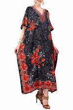 Miss Lavish Kaftan Tunic Kimono Maxi Dress Plus Size 10 12 14 16 18 22 24 26 28 Size 18-22 Black