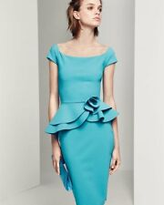 $750 LA PETITE ROBE DI CHIARA BONI LADY DRESS IN TURQUOISE (LAKE)  SZ  6/42 NWT