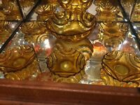 Art Deco - Amber Depression Glass Bowl Set