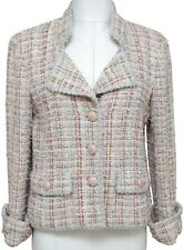 CHANEL Tweed Lesage Jacket Blazer Coat Multi-Color CC Gold 40 2013 13C RUNWAY