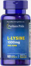 Puritan's Pride L-Lysine 1000 mg - 60 Caplets Skin Health Increases Collagen
