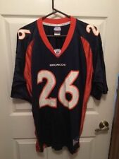 Clinton Portis 26 Denver Broncos NFL Blue Jersey size men's large