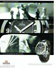 PUBLICITE ADVERTISING 056  2003  la montre Festina  automatic