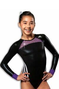 NWT Grand Mesh Adidas ™ crystal competition gymnastics leotard Free Scrunchie CL