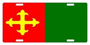 "CEIBA Flag Puerto Rico Municipio 6"" X 12"" License Plate PR Boricua Emblem II"