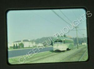 Original '50s Anscochrome Slide San Francisco Muni 1023 PCC Trolley action 17E6