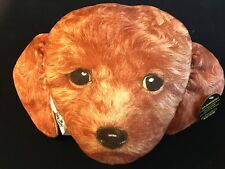 Goldendoodle Dog Head Pillow Expressions Plush New