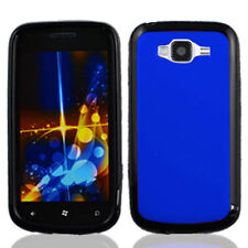 For Samsung Focus 2 i667 TPU Gel GUMMY Hard Skin Case Phone Cover Blue Black