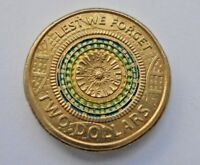 "2017 "" LEST WE FORGET""  AUSTRALIAN 2 DOLLAR  COIN, UNCIRCULATED, from mint roll."