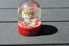 Vtg Snow Dome Globe I Love You Cupid Valentine Hearts Russ Snowdome Snowglobe