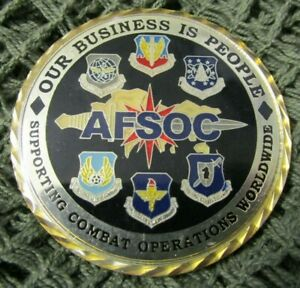 US AIR FORCE USAF AFSOC AIR COMMANDOS FIRST SERGEANT CHALLENGE COIN #2.