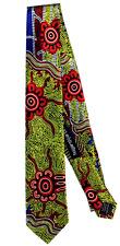 Aboriginal Tie - Authentic Art -  100% Silk Mens Designer Tie Authentic Direct