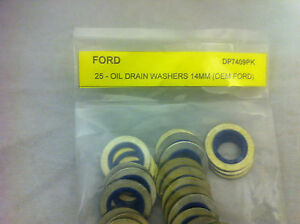 O.E. #F3DZ-6734A LOT OF 50 DP7409PK - Metal & Rubber Ford Washer Gasket 14mm