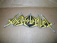 TOXIC HOLOCAUST,IRON ON YELLOW EMBROIDERED PATCH