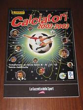 ALBUM CALCIATORI FIGURINE PANINI GAZZETTA DELLO SPORT 2002/03 2002 2003