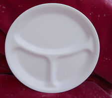 "CORNING CORELLE WINTER FROST WHITE GRILL DIVIDED PLATE S DINNER 10 1/4"" NEW"