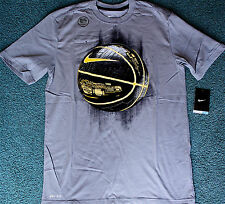 NWT Mens Nike M Dri-Fit Gray/Yellow/Black Circuit Glow BASKETBALL Shirt Medium