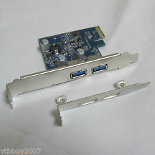low profile bracket PCI-e pcie to 2-port USB 3.0 A female converter card adapter