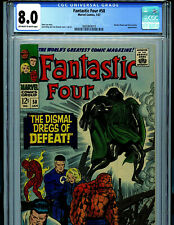 Fantastic Four #58 CGC 8.0 VF Marvel Comic Lee and Kirby Dr Doom Amricons S3