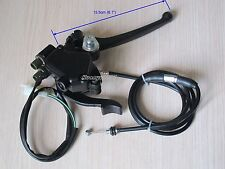 Thumb Throttle Accelerator Brake Lever + Cable For Chinese ATV Quad 50cc -125cc
