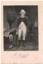 Philip Schuyler 1862 Steel Engraving Print Senator NY Revolutionary General