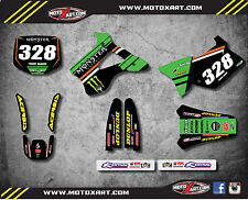 Kawasaki KX 125 / 250 1994 - 1998 Decal kit BURNOUT STYLE Graphics / sticker kit