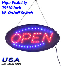 Ultra Bright Led Neon Light Animated Motion with On/Off Open Business Sign