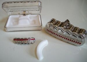 Men's Fashion Silver finish For Bottom Teeth Mouth Grillz With Holder & Box