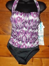 NWT ECO SWIM BY AQUA GREEN  WOMENS SWIMSUIT ONE PIECE SIZE 6