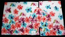 3 Bright Big Bold Floral PERI Waffle Textured Bath Hand Towels Wash Cloth NWT