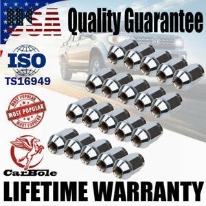 20 Chrome Wheel Bulge Acorn Lug Nuts M12x1.5 w/ 1 Lock Key For Ford Focus Escape