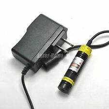 Focusable 650nm 50mW 5V Red Laser Dot Diode Module 16x68mm w/AC Adapter