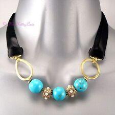 Statement Round Stone Costume Necklaces & Pendants