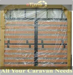 Caravan Slatted Bed Frame Queen size With 2 Gas Lift Hinges & 1 Retainer