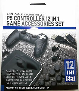 12 in 1 Playstation 5 Controller Gaming Accessories Kit