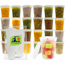 50 Pack 32 oz Heavy Duty Deli Food/Soup Plastic Containers w/ Lids and Airtight