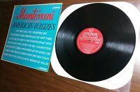 "Mantovani: American Waltzes EX+/EX 12"" vinyl record classical LP  London LL.3260"