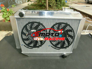 3 Row For Holden Kingswood H Series HD HR HK HT HG 6cyl 66-70 MT Radiator + Fans