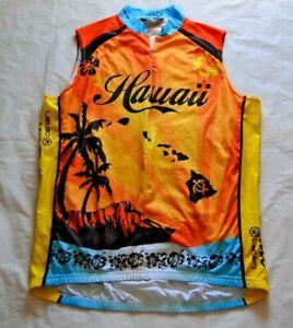 Hawaii Canari 1/2 Zip Sleeveless Cycling Jersey - The Aloha State - Size XL